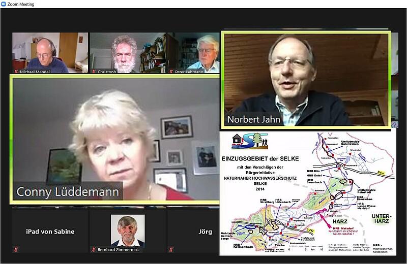 Digitale Mitgliederversammlung mit Conny Lüddemann und Norbert Jahn